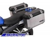 BikerFactory Kit piastre laterali SW Motech %28TELAI portavaligie%29 di aggancio sgancio rapido mod %22EVO%22 Side Carrier per SUZUKI KFT.05.403.200 1000855