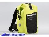 BikerFactory Zaino antipoggia impermeabile SW Motech Drybag 300 Giallo Neon Nero da 30 lt. BC.WPB.00.011.10000 Y 1030800