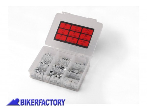 BikerFactory Set SW Motech dadi e distanziali assortiti 180 Pezzi.  %23129b%23 STM.ST.680.10100 S 1016937