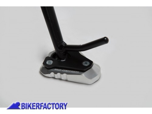 BikerFactory Base maggiorata SW Motech per cavalletto laterale KAWASAKI ER 6N %28%2712 %2716%29 e Versys 1000 %28%2712 %2714%29 STS.08.102.10000 S 1024250