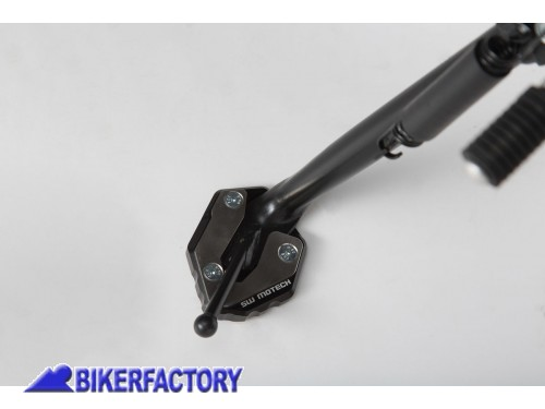BikerFactory Base maggiorata SW Motech per cavalletto laterale YAMAHA MT 09 Tracer e XSR 900 Abarth STS.06.525.10000 1033177