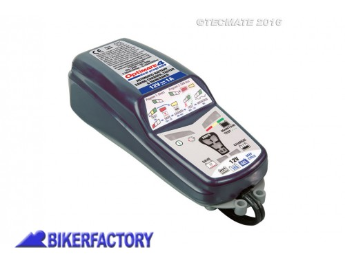 BikerFactory Caricabatterie mantenitore di carica TecMate Optimate 4 versione CAN Bus PW.00.398 038 1036376