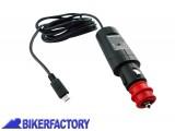 BikerFactory Adattatore da presa accendisigari normal plug a Micro USB %28ricarica batterie Android e altri dispositivi%29 EMA.00.107.11400 1017359