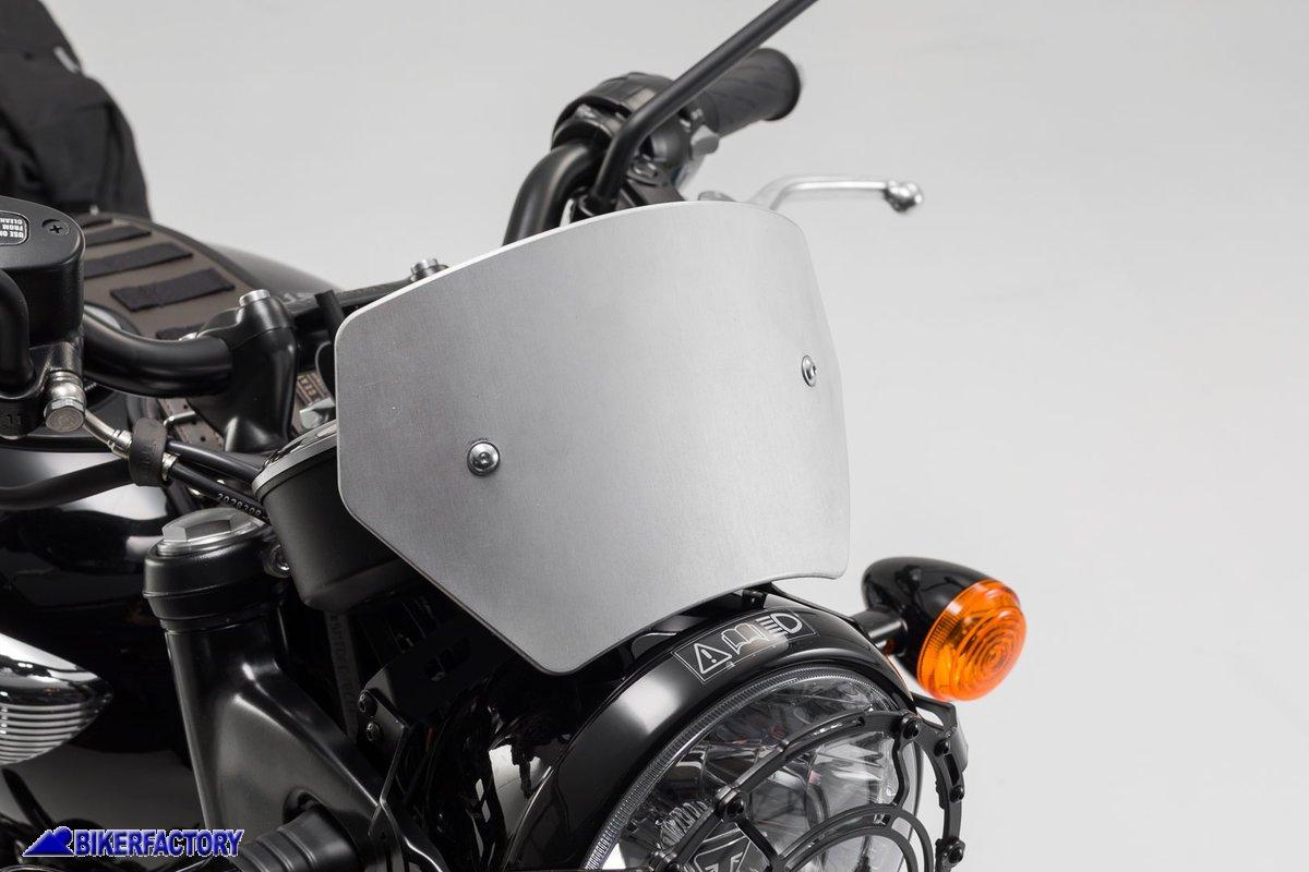 T100 2003-2017 TTBD Cupolino Moto Cupolino Compatibile con Parabrezza per Triumph Bonneville 2001-2017 Nero