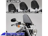 BikerFactory Cupolino parabrezza %28 screen %29 Gladiator%E2%84%A2 National cycle per Harley Davidson %5BAlt. 36%2C8 cm Largh. 31%2C8 cm ca.%5D N2711 1003062