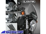 BikerFactory Cupolino parabrezza %28 screen %29 Gladiator%E2%84%A2 National cycle per Harley Davidson %5BAlt. 36%2C8 cm Largh. 31%2C8 cm ca.%5D N2714 1023855