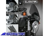 BikerFactory Cupolino parabrezza %28 screen %29 Gladiator%E2%84%A2 National cycle per Harley Davidson %5BAlt. 36%2C8 cm Largh. 31%2C8 cm ca.%5D N2715 1023856