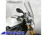 BikerFactory Cupolino parabrezza %28 screen %29 National Cycle VSTREAM%C2%AE mod. TOURING x DUCATI Monster %28%2708 %2714%29 %5BAlt. 45%2C7 cm Largh. 38%2C1 cm ca.%5D col. Trasparente N28214 1010012