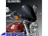BikerFactory Cupolino parabrezza %28 screen %29 National cycle Gladiator%E2%84%A2 per Harley Davidson Sportster Custom %5BAlt. 36%2C8 cm Largh. 31%2C8 cm ca.%5D N2709 1003043
