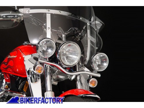 BikerFactory Barra Luci Cromata National Cycle per HONDA VT 750 C2 Shadow Spirit N948 1004028