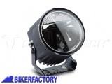 BikerFactory Faretti moto LED EVO FOG LIGHT SW Motech colore nero con cablaggio completo e interruttore NSW.00.770.10000 1035916