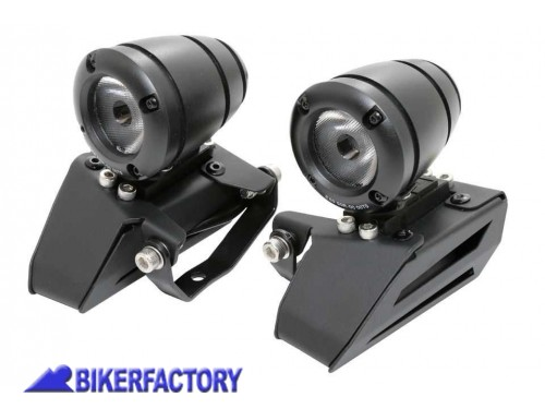 BikerFactory Faretti moto fari supplementari a LED MOTORIZZATI inclinabili SWINGLIGHT PW.00.202 750 1034062