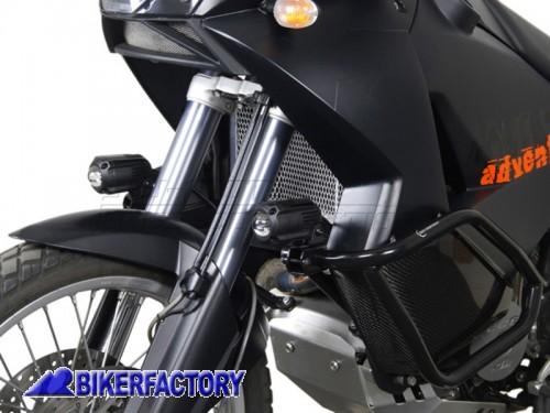 NSW.00.004.10200/B Faretti moto - fari supplementari di profondità HAWK OFF ROAD SW-Motech 12V H3 55W corpo in alluminio con cablaggio completo  per Yamaha TDM 900