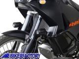 BikerFactory Faretti moto fari supplementari di profondit%C3%A0 HAWK SW Motech 12V H3 55W corpo in alluminio con cablaggio completo 1001161