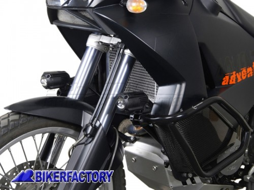Faretti moto - fari supplementari di profondità HAWK SW-Motech 12V H3 55W corpo in alluminio con cablaggio completo  per Yamaha TDM 900