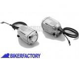 BikerFactory Faretti moto fari supplementari di profondit%C3%A0 a LED SW Motech HAWK LED OFF ROAD corpo in alluminio con cablaggio completo colore Argento NSW.00.004.10400 S 1035476
