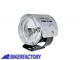 BikerFactory Faro supplementare fendinebbia rotondo cover argento Prodotto generico non specifico per questo modello di moto PW.00.222 012 1032514