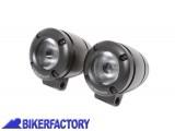 BikerFactory Kit coppia Faretti moto fari supplementari a LED mod. FIXLIGHT completi di cablaggio e interruttore manubrio PW.00.202 760K 1034661