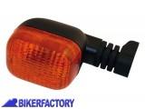 BikerFactory Freccia anteriore SX o posteriore DX mod. DUC STYLE foro M6 vetro giallo Prodotto generico non specifico per questo modello di moto PW.00.202 509 1028329