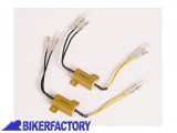 BikerFactory Kit coppia resistenze 25W 6%2C8 Ohm per frecce a LED PW.00.207 025 1030694