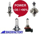 BikerFactory Lampada Alogena POWER Light auto moto mod. H1 H3 H4 H7 H11 1024777
