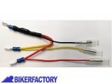 BikerFactory Resistenza con cavi e connettori lamellari per fari a LED posteriori 1031198