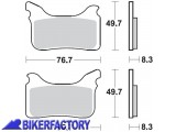 BikerFactory Pastiglie anteriori BRAKING Semimetalliche Sinterizzate in mescola CM55 BR.931CM55 1004291