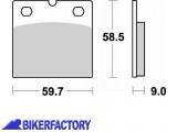 BikerFactory Pastiglie anteriori BRAKING Semimetalliche in mescola SM1 BR.644SM1 1004151