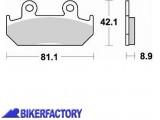 BikerFactory Pastiglie anteriori BRAKING Semimetalliche in mescola SM1 BR.704SM1 1010386