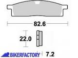 BikerFactory Pastiglie anteriori BRAKING Semimetalliche in mescola SM1 BR.705SM1 1004481