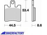 BikerFactory Pastiglie anteriori BRAKING Semimetalliche in mescola SM1 BR.830SM1 1004166