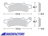 BikerFactory Pastiglie anteriori BRAKING Semimetalliche in mescola SM1 BR.853SM1 1004499
