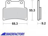 BikerFactory Pastiglie anteriori BRAKING Semimetalliche in mescola SM1 BR.933SM1 1010151
