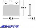 BikerFactory Pastiglie anteriori posteriori BRAKING Semimetalliche Sinterizzate in mescola CM55 BR.613CM55 1004397