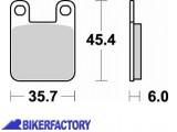 BikerFactory Pastiglie anteriori posteriori BRAKING Semimetalliche in mescola SM1 BR.621SM1 1004433