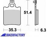 BikerFactory Pastiglie anteriori posteriori BRAKING Semimetalliche in mescola SM1 BR.648SM1 1004441