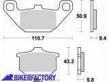 BikerFactory Pastiglie anteriori posteriori BRAKING Semimetalliche in mescola SM1 BR.662SM1 1004446