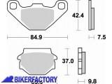 BikerFactory Pastiglie anteriori posteriori BRAKING Semimetalliche in mescola SM1 BR.669SM1 1004447