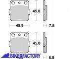 BikerFactory Pastiglie anteriori posteriori BRAKING Semimetalliche in mescola SM1 BR.686SM1 1004472