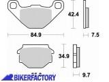 BikerFactory Pastiglie anteriori posteriori BRAKING Semimetalliche in mescola SM1 BR.743SM1 1004309