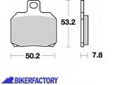 BikerFactory Pastiglie anteriori posteriori BRAKING Semimetalliche in mescola SM1 BR.828SM1 1004319