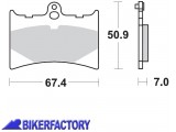 BikerFactory Pastiglie anteriori posteriori BRAKING con mescola base semi metallica SM1 BR.726SM1 1004156