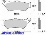 BikerFactory Pastiglie freni anteriori Sinterizzate serie CM55 BRAKING BR.780CM55 1010092