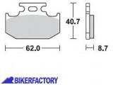 BikerFactory Pastiglie posteriori BRAKING Semimetalliche Sinterizzate in mescola SM1 BR.722SM1 1004484