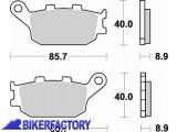 BikerFactory Pastiglie posteriori BRAKING Semimetalliche in mescola SM1 BR.742SM1 1004158