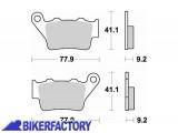 BikerFactory Pastiglie posteriori BRAKING Semimetalliche in mescola SM1 BR.773SM1 1004349