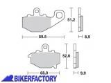 BikerFactory Pastiglie posteriori BRAKING Semimetalliche in mescola SM1 BR.775SM1 1004421