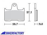 BikerFactory Pastiglie posteriori BRAKING Semimetalliche in mescola SM1 BR.875SM1 1004424