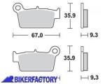 BikerFactory Pastiglie posteriori BRAKING Semimetalliche in mescola SM1 BR.890SM1 1004503