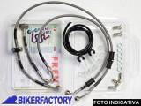 BikerFactory Kit tubi freno Frentubo tipo 1 con tubi e raccordi in acciaio per Aprilia RS 125 REPLICA %28%2792 %2798%29. 1014535